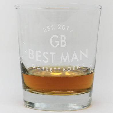 Whiskey Glass - Best Man Established