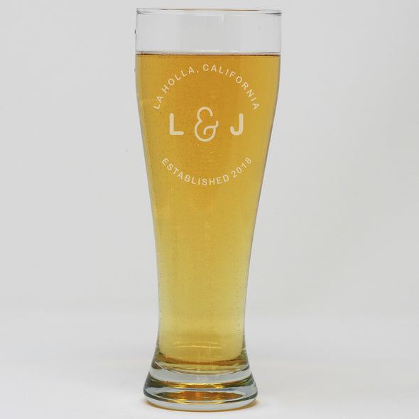 Pilsner Pint Glass - Established