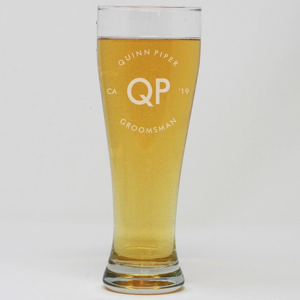 Pilsner Pint Glass - Groomsman