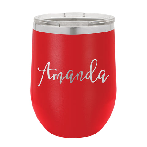 Wine Tumbler With Engraved Name