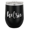 Custom Wine Tumbler with Cute Cursive, Personalized Wine Tumbler, Custom Wine Tumbler