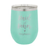 "Personalized Bridal Party Wine Tumbler, Insulated Wine Tumbler ""Maid of Honor"""
