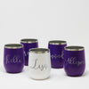 Custom Wine Tumbler Set