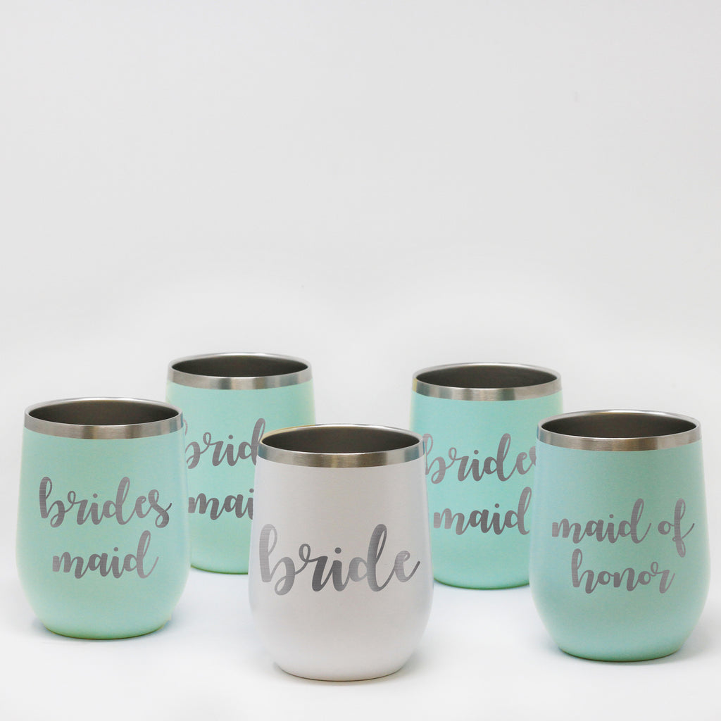 Custom Wedding Wine Tumbler Sets
