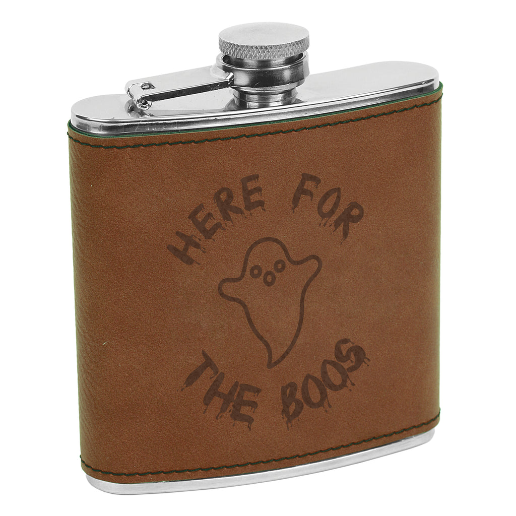 Here for the Boos Flask, Halloween Flask, Funny Halloween Flask, Silly Halloween Flask