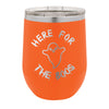 Halloween Wine Tumbler - Here For the Boos