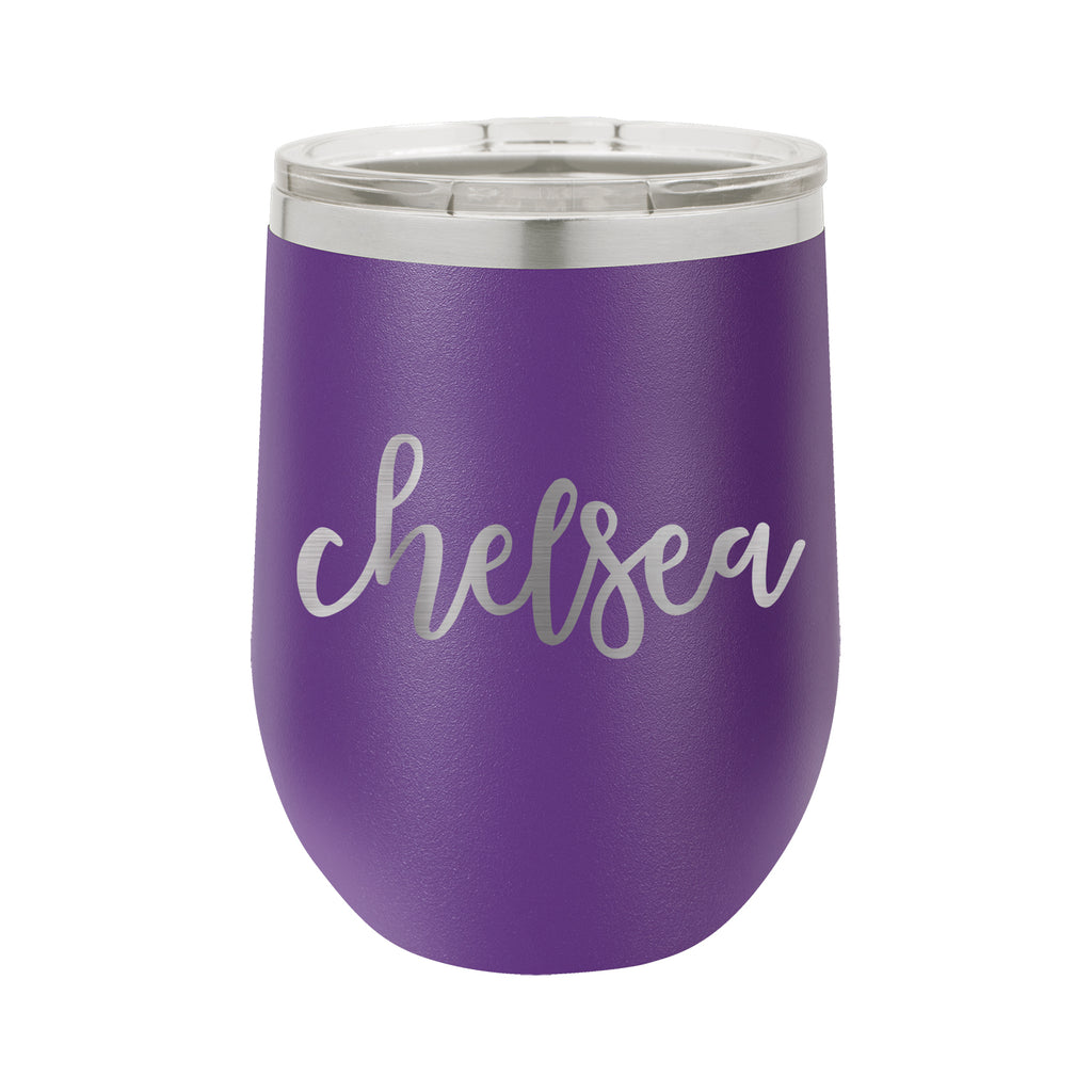 "Personalized Wine Tumbler, Insulated Wine Tumbler ""Chelsea"""