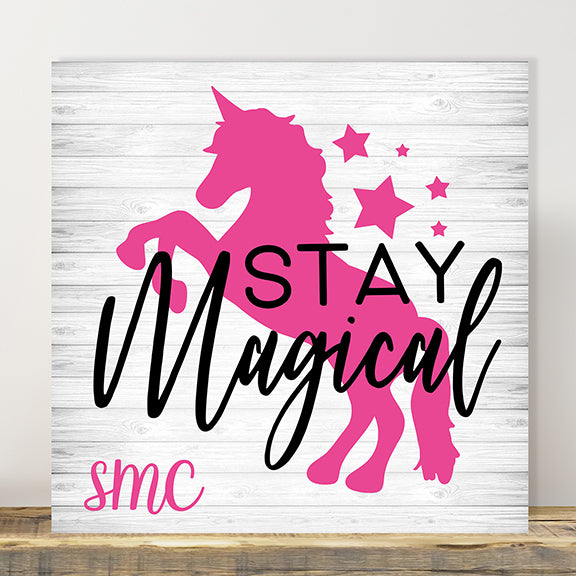 Personalised ANY NAME Kids Custom Bedroom Door Wall Sign Wooden UNICORN
