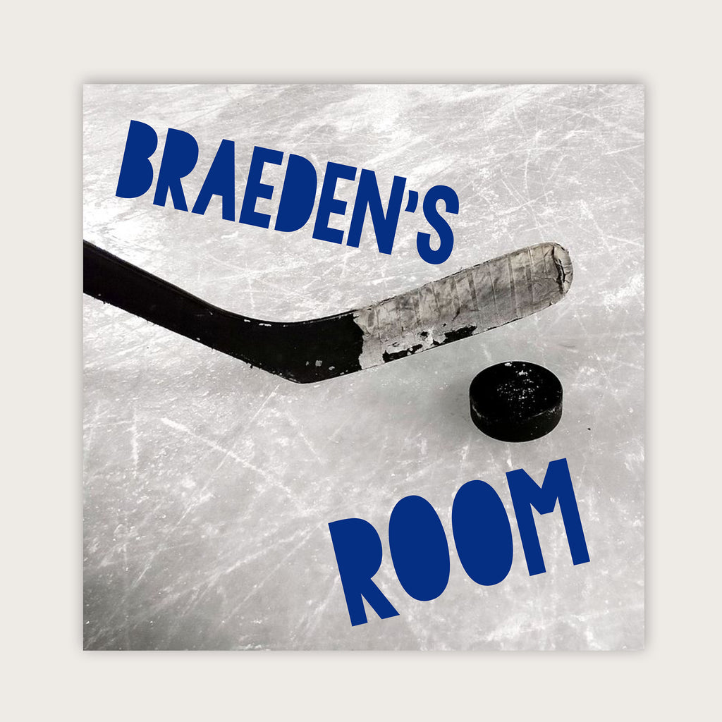 "Wall Door Sign, Kid's Room Sign, Custom Wall Sign, ""Braeden"""