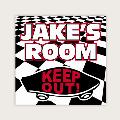"Wall Door Sign, Kid's Room Sign, Custom Wall Sign, ""Jake's Room"""
