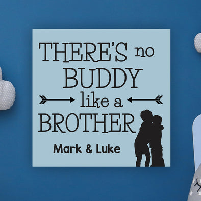 "Brother's Wall Door Sign, Kid's Room Sign, Custom Wall Sign, ""Mark & Luke"""