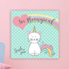 "Caticorn Wall Door Sign, Kid's Room Sign, Custom Wall Sign, ""Sarah Jane"""