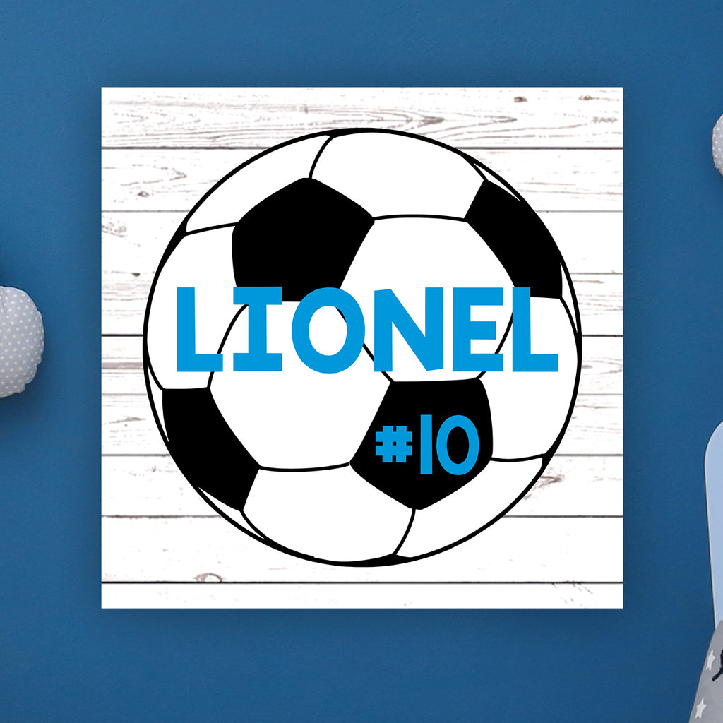 "Soccer Wall Door Sign, Kid's Room Sign, Custom Wall Sign, ""Lionel"""