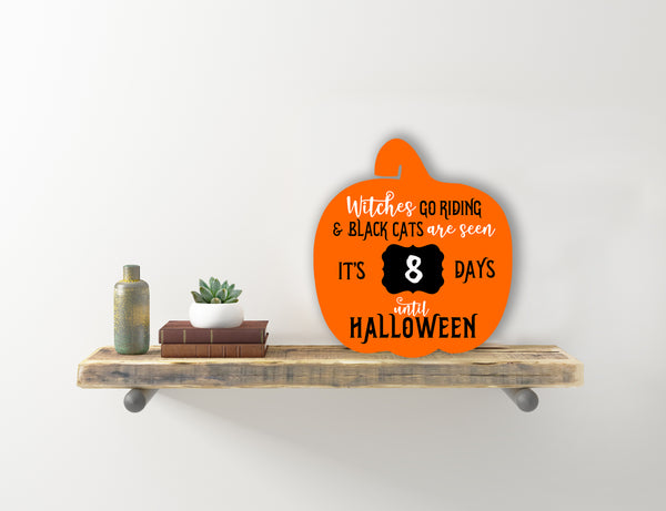 Countdown to Halloween Pumpkin Sign