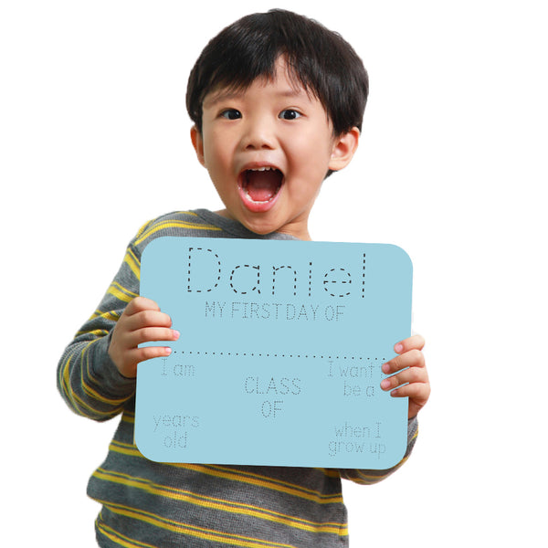 Name Trace First Day Of School Whiteboard Sign Reusable