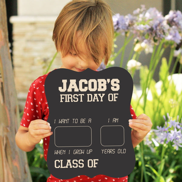 Personalized First / Last Day Of School Sign Reusable