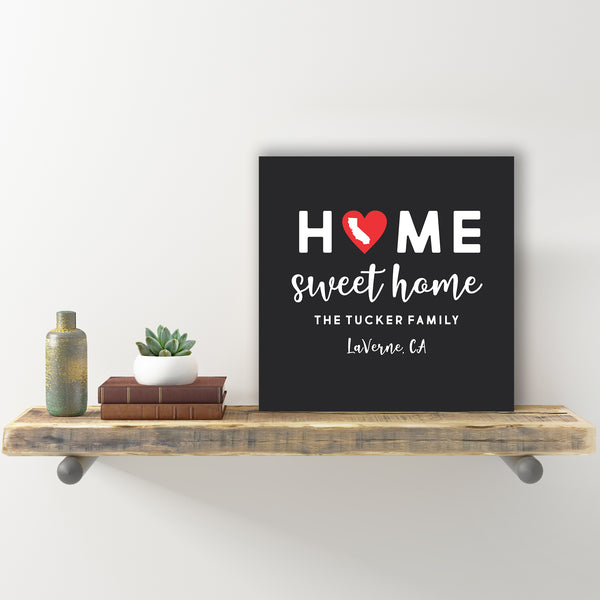 "Personalized Wall Sign - ""Home Sweet Home"""