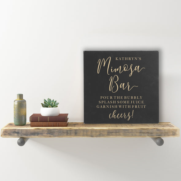 "Wall Sign - ""Mimosa Bar - Pour The Bubbly"""