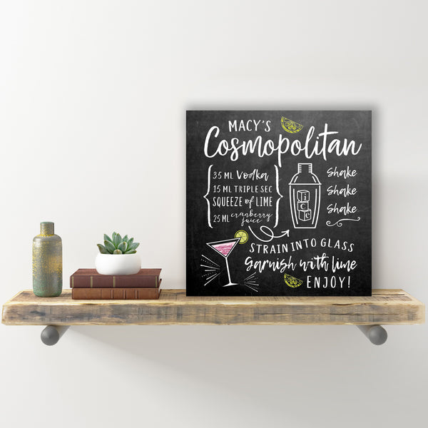 How To Make A Cosmopolitan Wall Sign