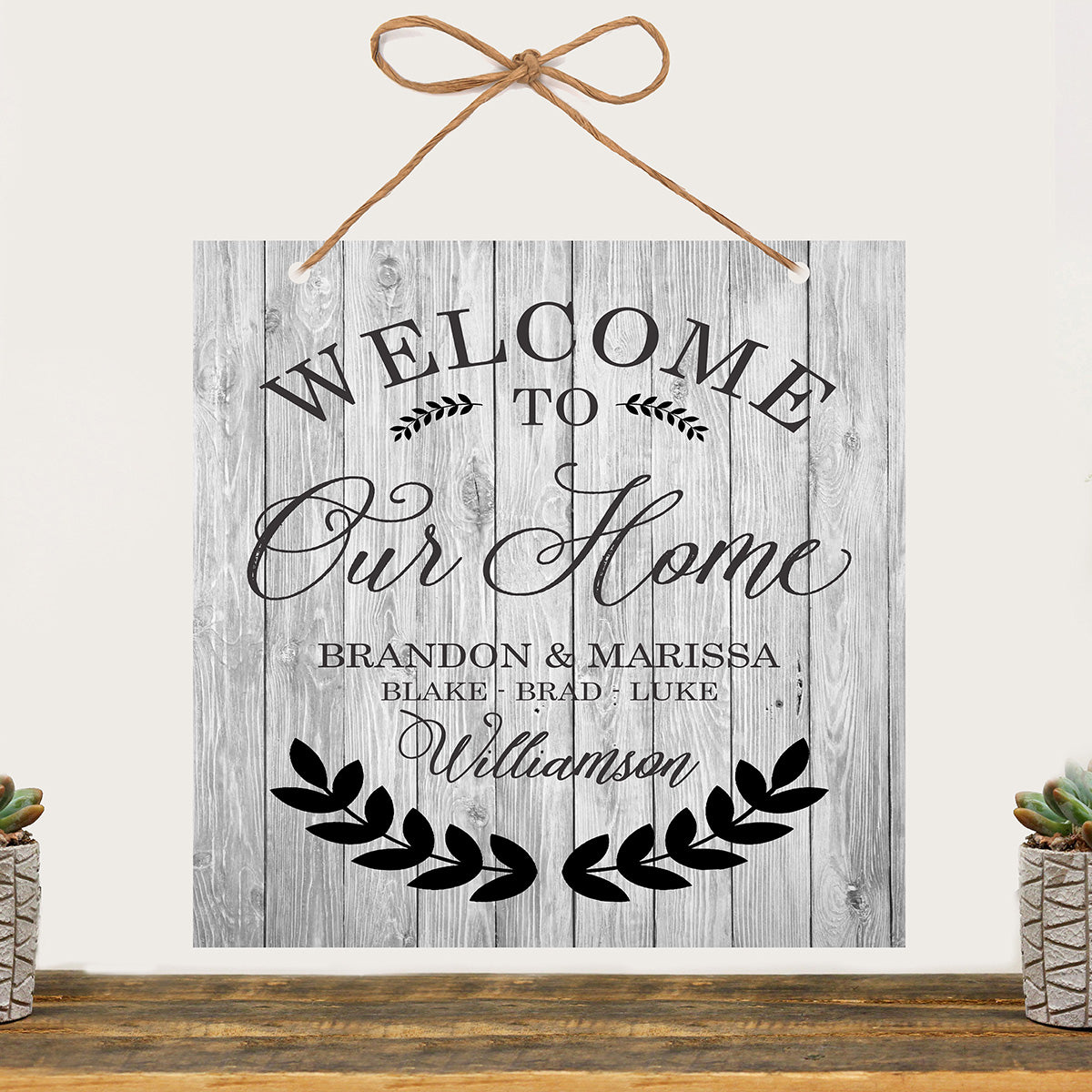 """Welcome Sign """"Welcome To Our Home"""" – Stamp Out"""