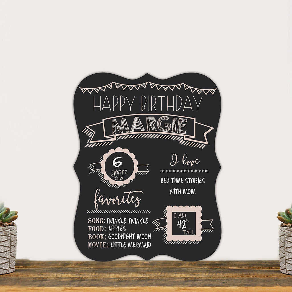 "Personalized Chalkboard ""Happy Birthday"""