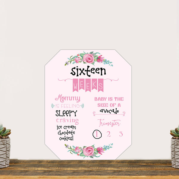 "Pregnancy Countdown Whiteboard ""Baby On The Way In Pink!"""