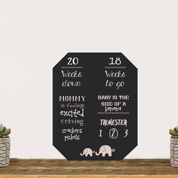 "Pregnancy Countdown Chalkboard ""Baby On The Way Count Down"""