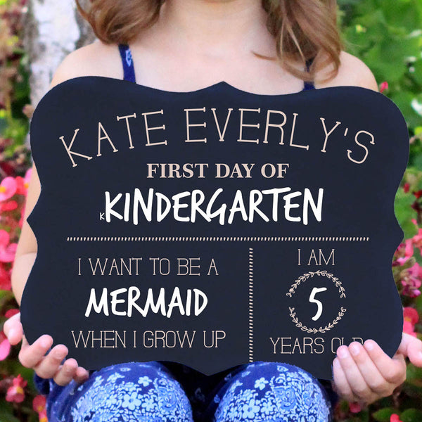 "Personalized Chalkboard ""First Day Of School"""
