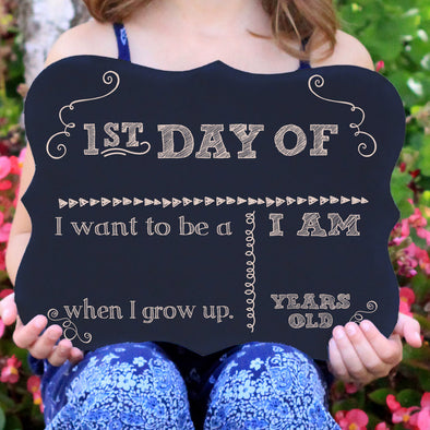 Personalized First Day Of School and Last Day of School Chalkboard Signs