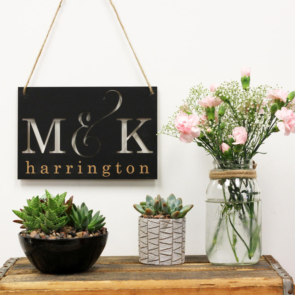 Personalized Cut Out Initials  Signs