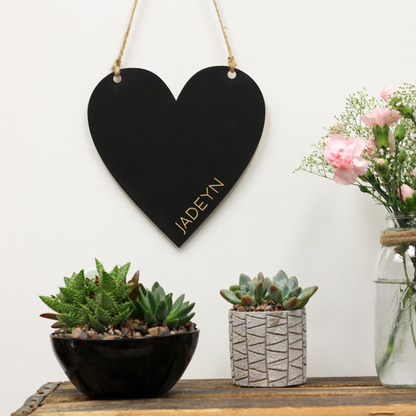 Heart Chalkboard Sign