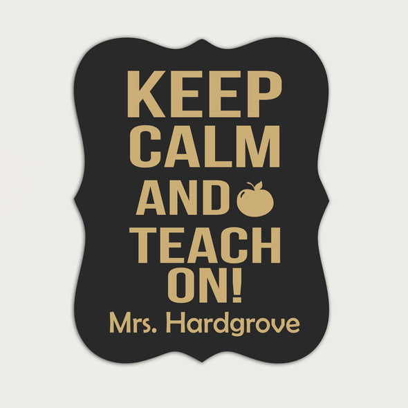 "Teacher Classroom Chalkboard - ""Keep Calm & Teach On"""