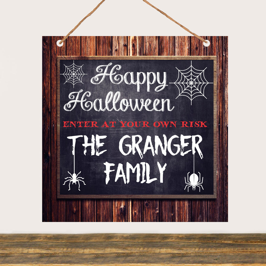 "Halloween Sign ""Granger Family Happy Halloween"""
