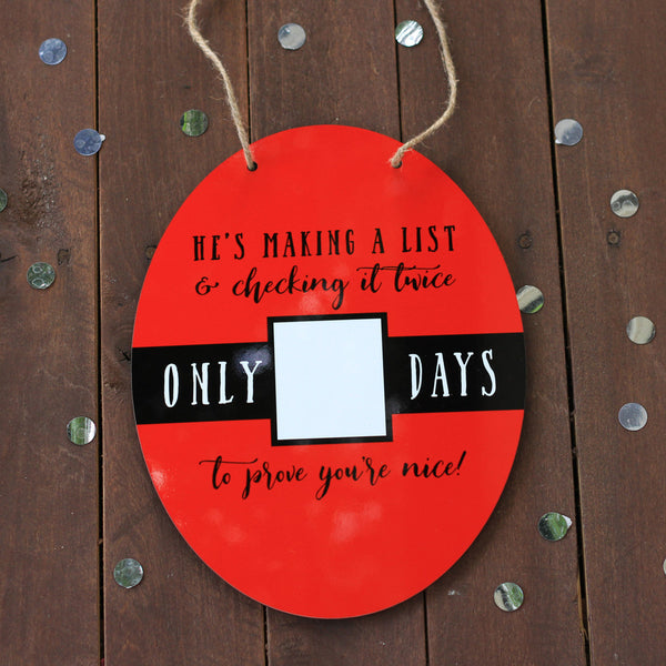 Christmas Wall Sign - Christmas Countdown