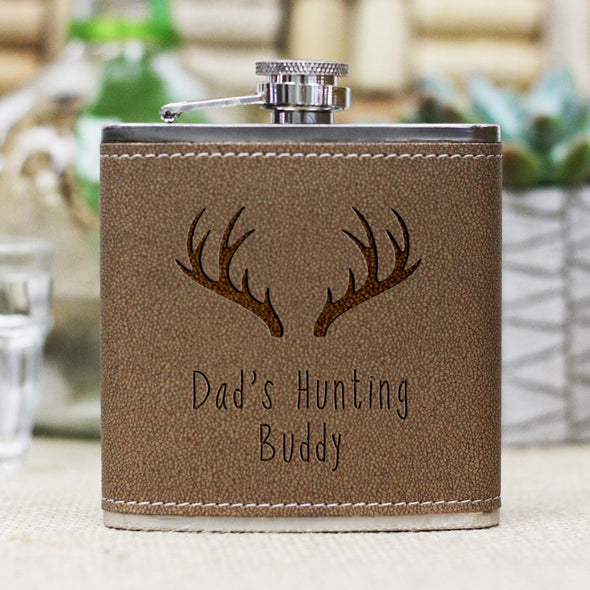 "Personalized Flask - ""Dads Hunting Buddy"""