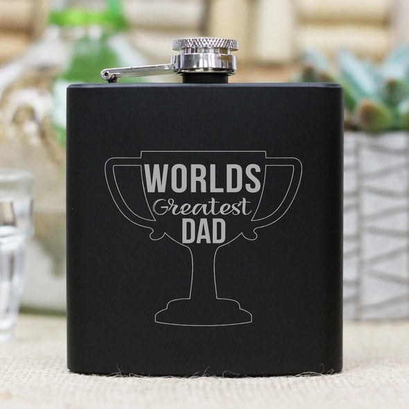 "Flask - ""World's Greatest Dad"""