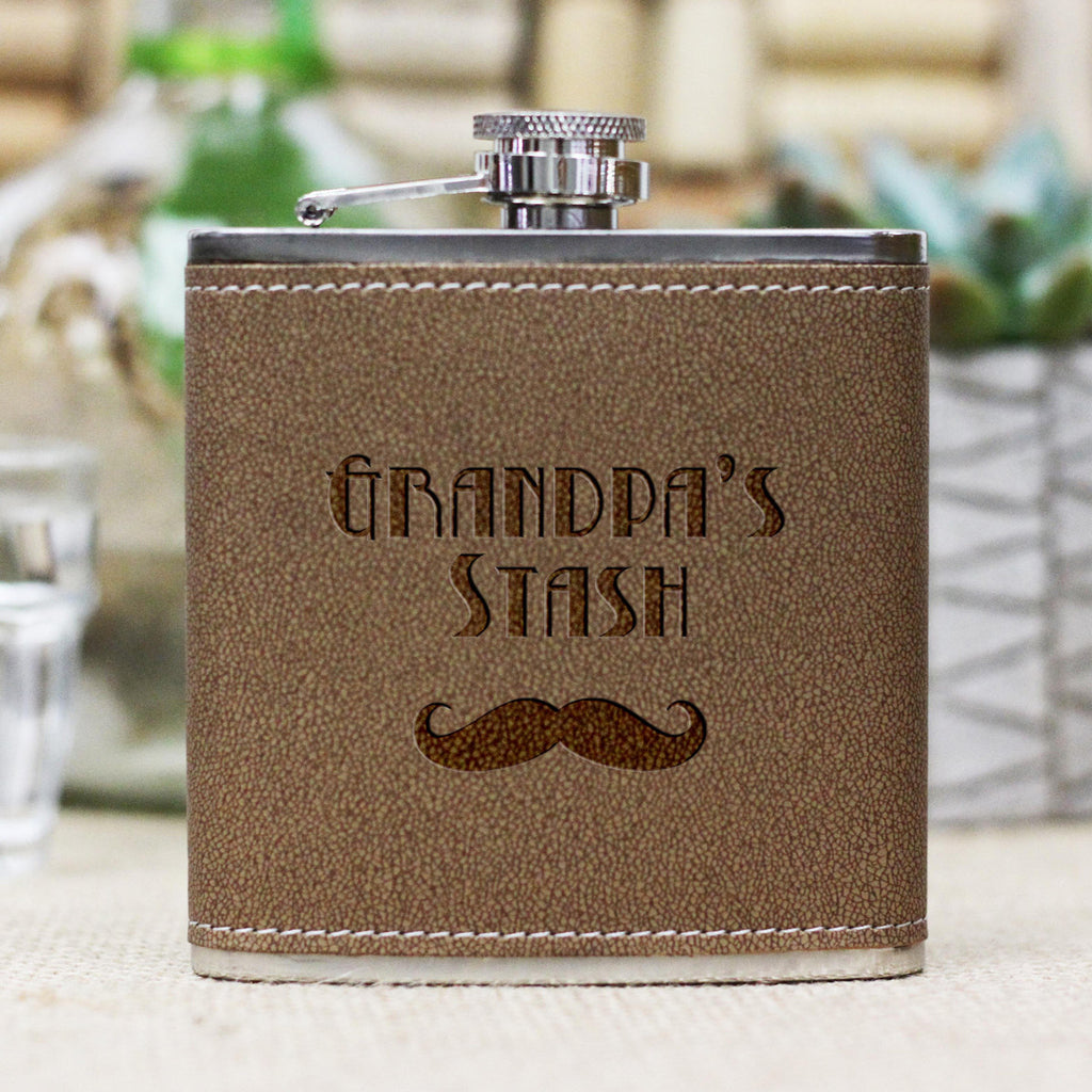 "Personalized Flask - ""Grandpas Stash"""