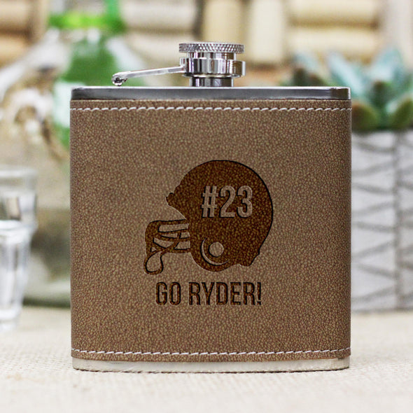 "Personalized Flask - ""Football Helmet"""