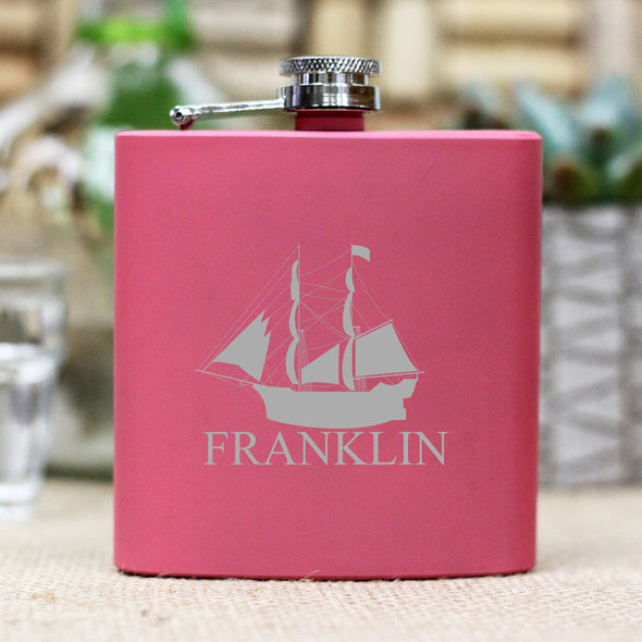 "Personalized Flask - ""Franklin"" Sailboat"