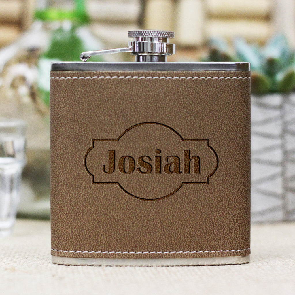 "Personalized Flask - ""Josiah"""