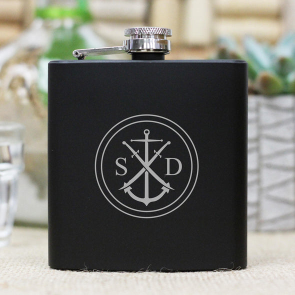 "Personalized Flask - ""SD"" Anchor"
