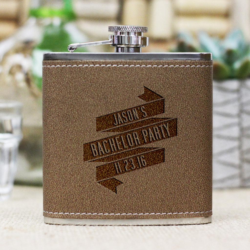 "Personalized Flask - ""Jason's Bachelor Party"""