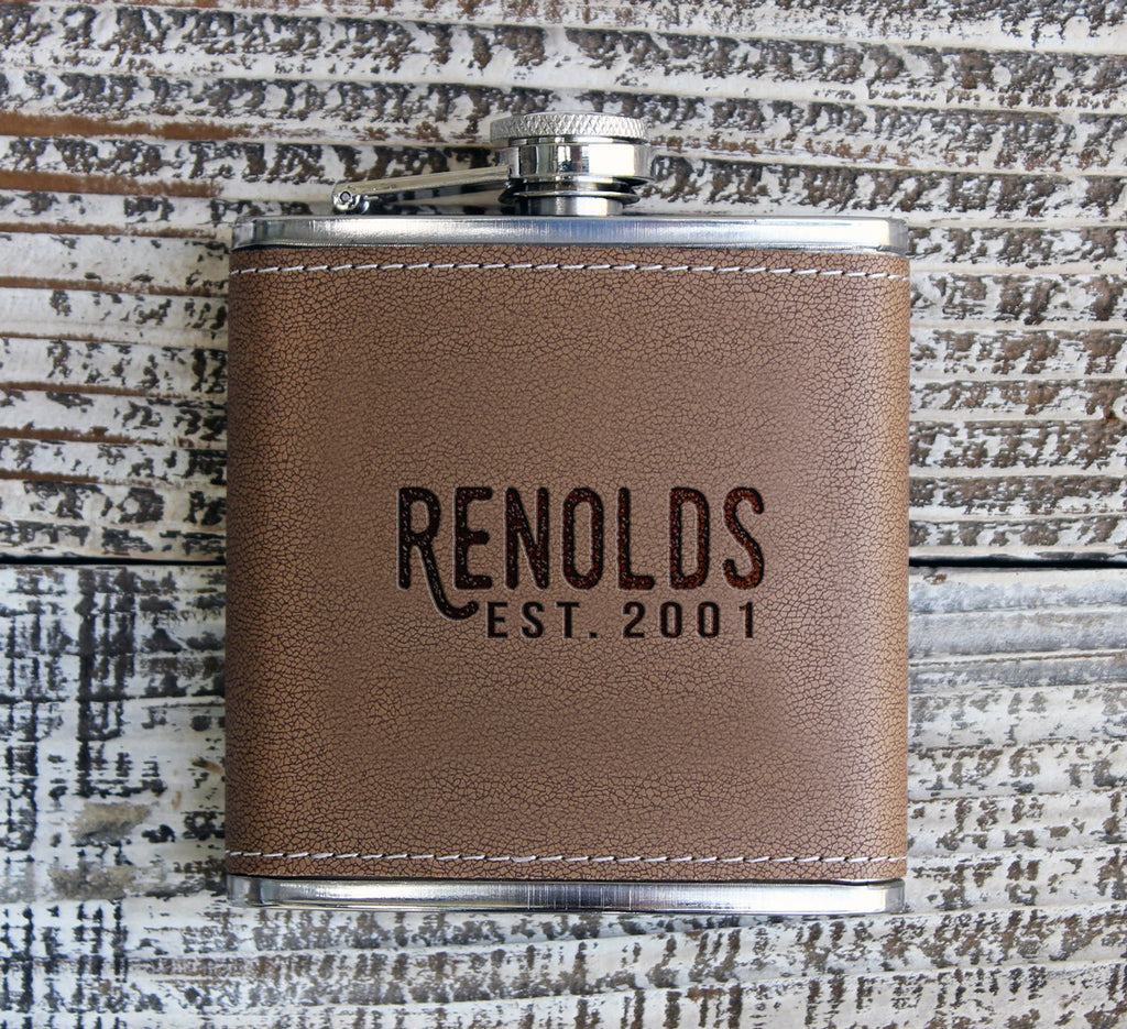 "Personalized Flask - ""Reynolds"""