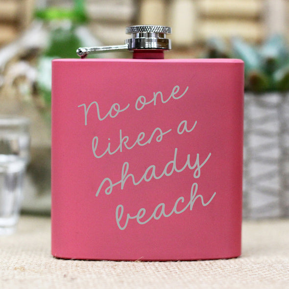 "Flask - ""No One Likes a Shady Beach"""