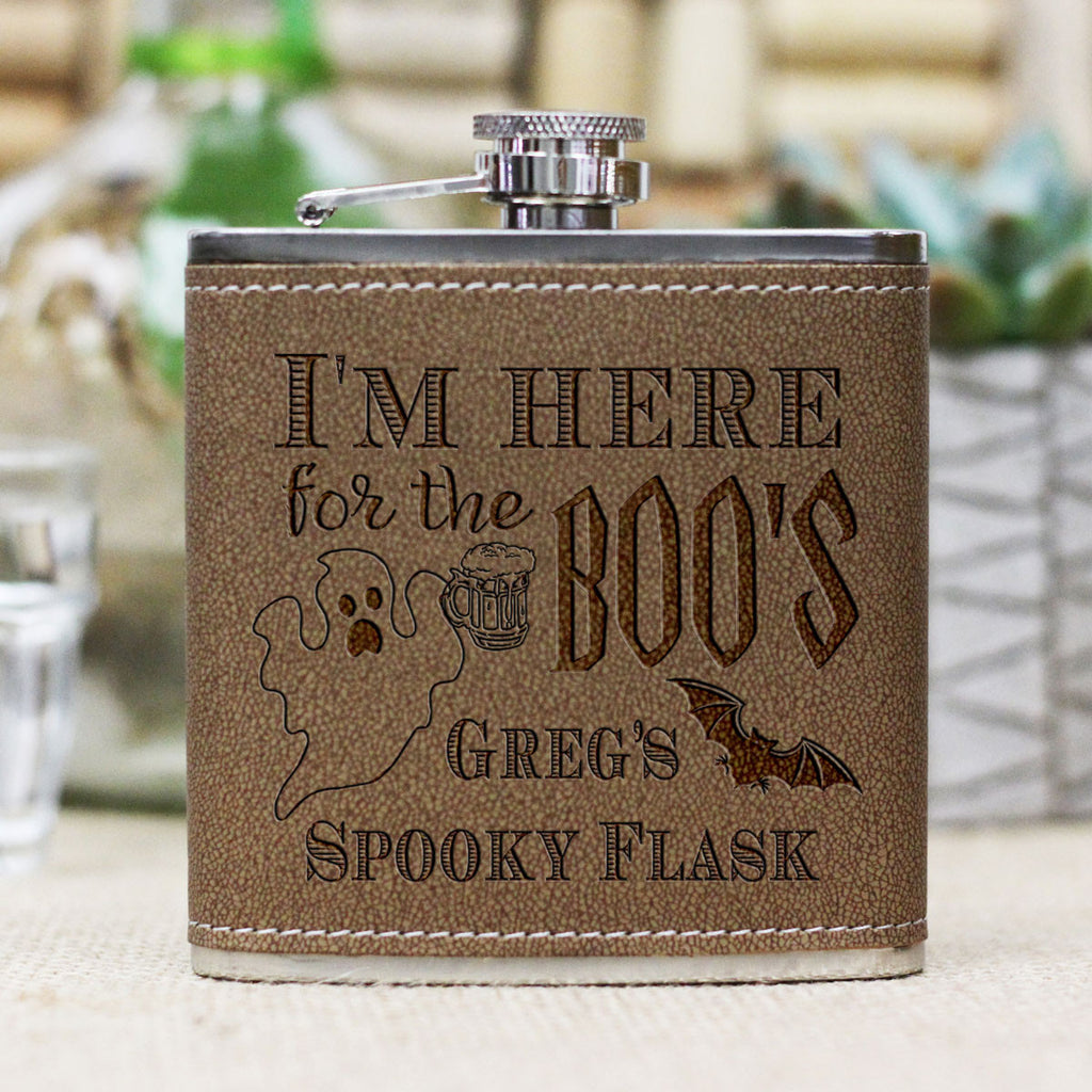 "Personalized Flask - ""Here for the BOOs"""