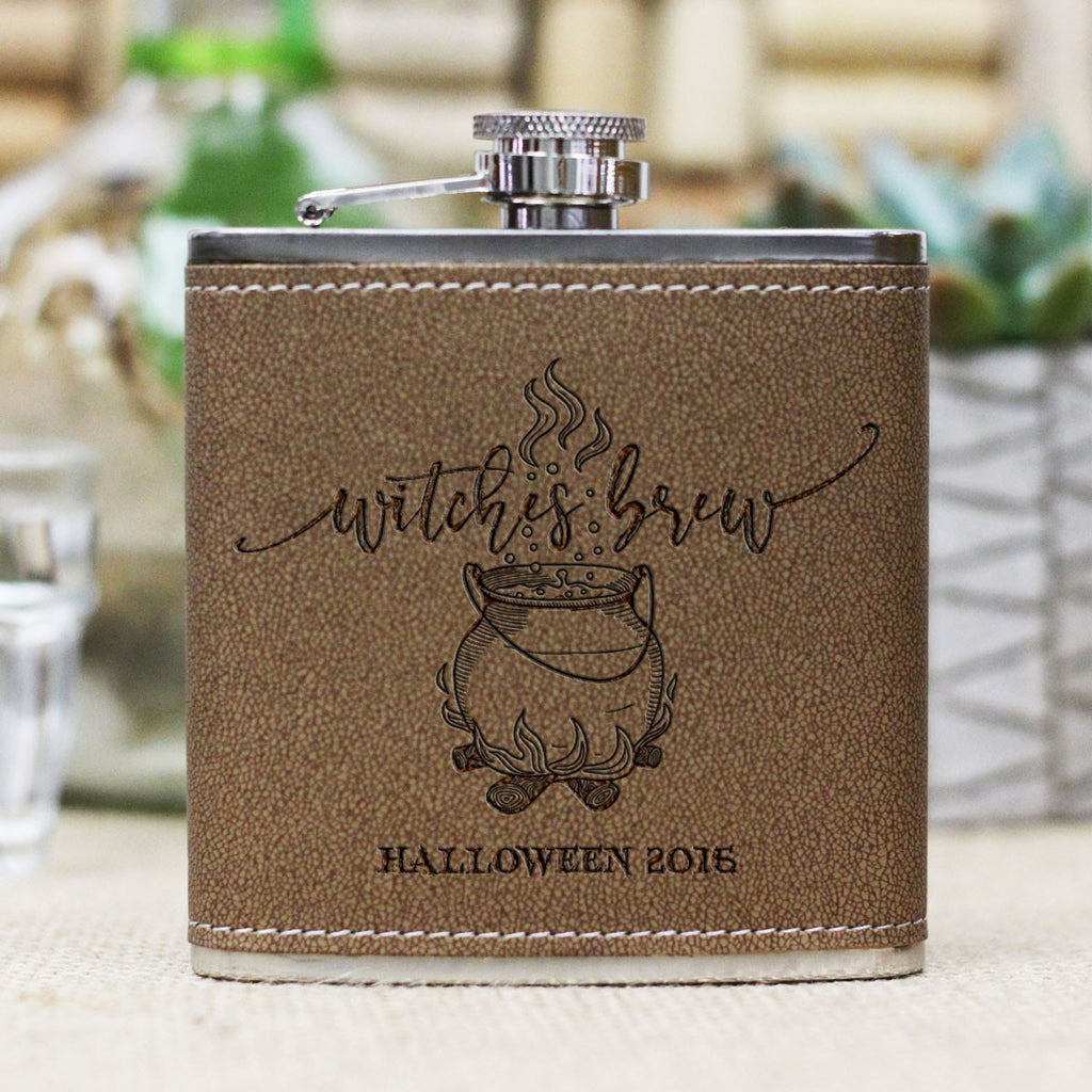 "Personalized Flask - ""Witches Brew"""