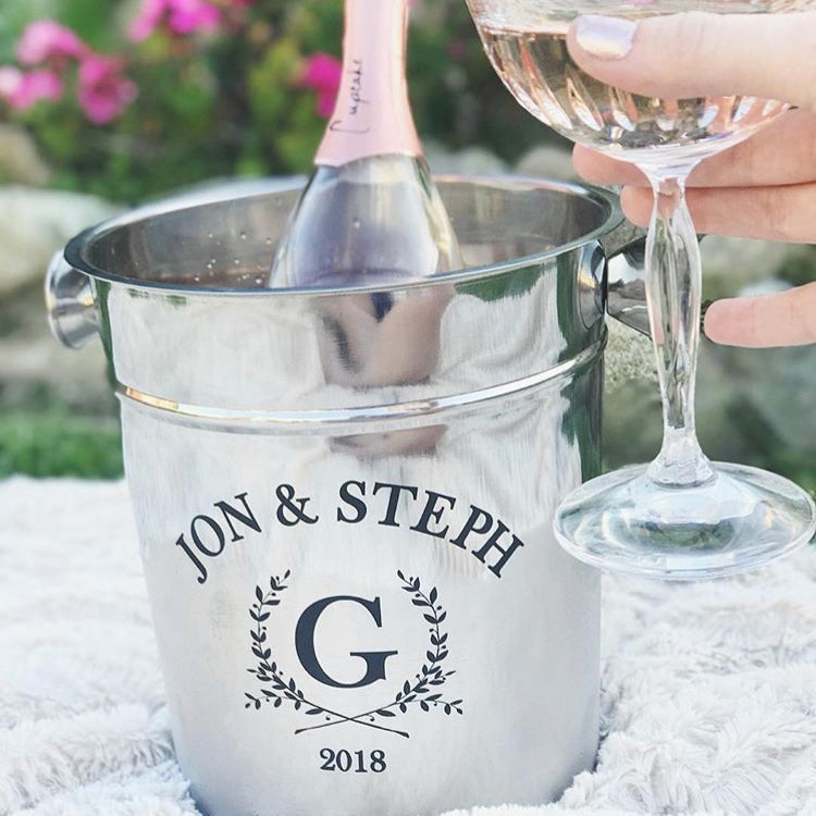Personalized Ice Bucket - First Names And Year