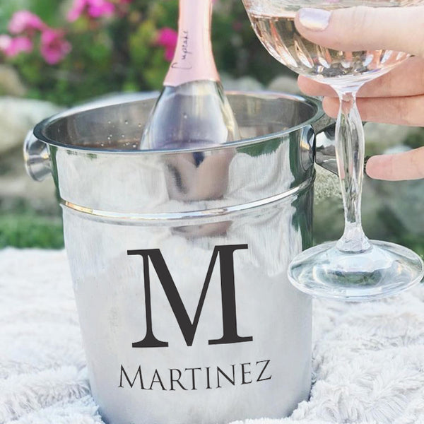 Personalized Ice Bucket - Initial With Last Name
