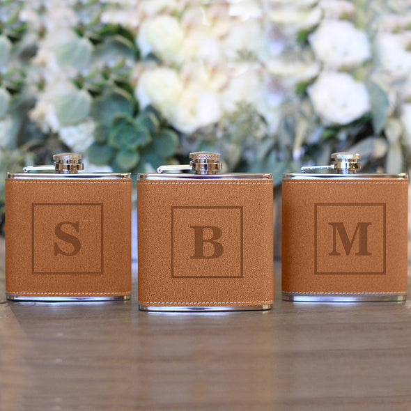 Personalized Flasks With Initial