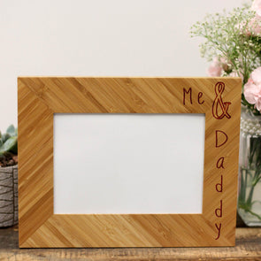 """Me & Daddy"" Picture Frame"